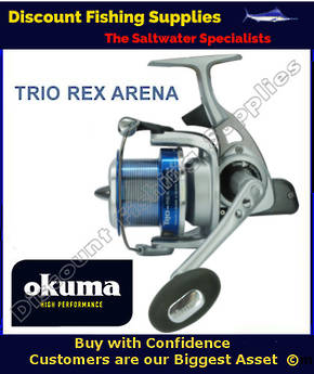 Okuma Trio Rex ARENA (CAST) 60 FD Longcast Surf Reel