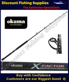 "Okuma X-Factor II 24kg 5'8"" Game Rod with roller Tip"