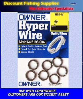 Owner Hyper Wire Split Rings #8 (54kgs)