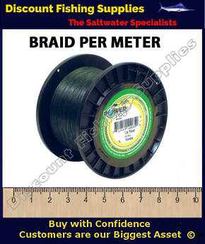 Power Pro Braid PER METER 80lb Green