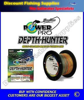 Power Pro Depth Hunter Multi Coloured Braid 30lb X 333yd