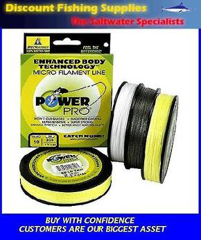 Power Pro Braid 15LB X 300YDS Hi-Vis YELLOW