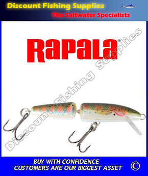 Rapala Jointed Floating Trout Lure J7 - Rainbow Trout