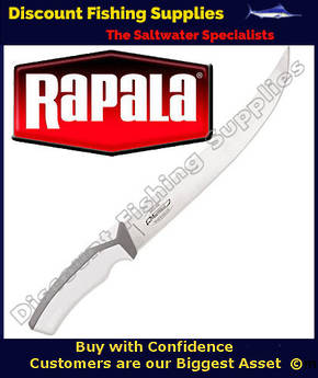 "RAPALA MARTTIINI 10"" ANGLER'S CURVED FILLET KNIFE W/PLASTIC SHEATH"