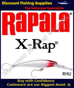 Rapala X-Rap Magnum 30 16cm - SINGLE HOOK Redhead UV