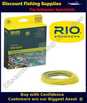 Rio Gold Floating Fly Line - WF5F Moss Gold