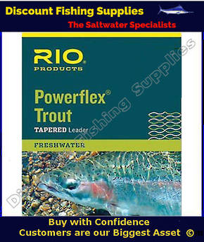 Rio Powerflex 12ft Tapered Leader 5X (5lb)