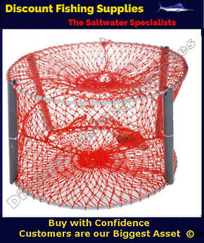 Crabpot - Collapsible Orange Mesh