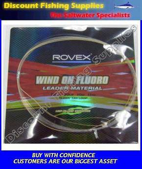 Rovex Wind-On Leader Fluorocarbon - 100lb