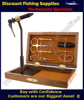 Terra Fly Tying Tool Kit (wooden case) - Royal Coachman
