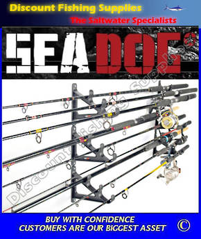 Sea Dog Horizontal Rod Rack - Holds 9 Rods