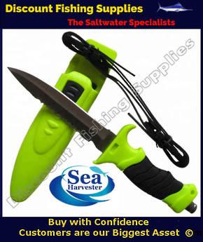 Sea Harvester Standard Dive Knife - HiVis