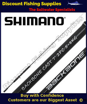 Shimano Backbone BaitCast Softbait Rod 5-8kg - 2pc