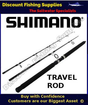 """Shimano Backbone Topwater Travel Rod 50-80kg 8'2"""" - 3pc"""