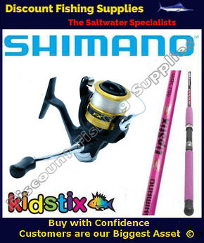 Shimano KidStix Pink / FX 4000 Kids Combo 5ft  WITH LINE