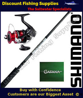 Shimano Sienna 4000FG / Catana Softbait Set 2pc 6-8kg