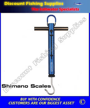 Shimano T-Bar Fish and Drag Scales - 45kg