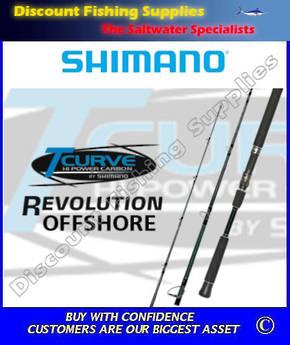 Shimano T-Curve Revolution Offshore Spinning Rod 10-15kg 2pc 7'6""