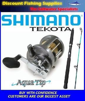 Shimano Tekota 700 / Aquatip 24kg RT Boat Combo