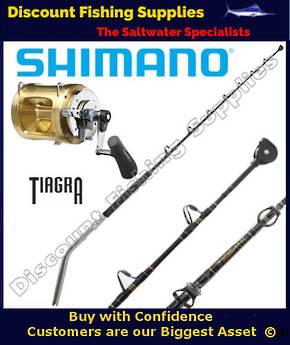 Shimano TIAGRA 50 Wide LRSA - 37kg Bent Butt Combo