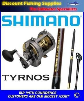 Shimano Tyrnos 30 / Backbone 24kg Combo