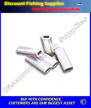 Crimps - Mini Aluminium Single Sleeve 0.8 to 1.5mm (7mm long) Oval