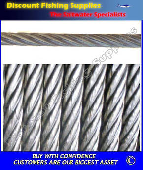 1.5mm 7x7 316 Stainless Steel Wire per Meter