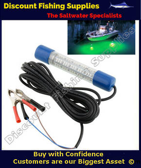 Submersible LED Fishing Light Green 12v - Large