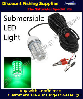 Submersible 36 LED Fishing Light Green 12v - Small