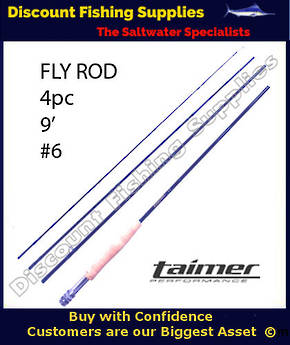 Taimer LT Fly Rod 9' - 4pc - #6