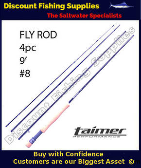 Taimer LT Fly Rod 9' - 4pc - #8