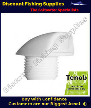Tenob White Short Drain Vent - ANCHOR WELL DRAIN DR06W