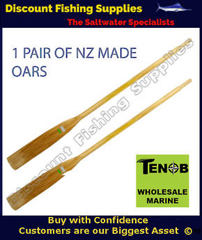 Tenob Wooden Oars 6 Ft  (Pair)