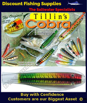 Tillins Cobra Wobbler Lure 19g 3inch Colour 63 with Hook and Bead