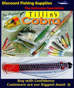Tillins Cobra Wobbler Lure 19g 3inch Colour 95 with Hook and Bead