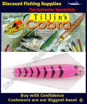 Tillins King Cobra Lure 13.5g Colour 58 with Hook and Bead