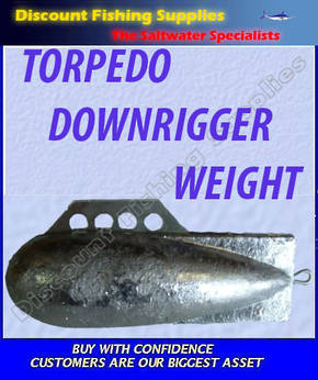 Torpedo Downrigger Weight 6lb