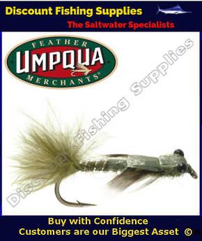 Umpqua Damsel Nymph Olive #12 Fly