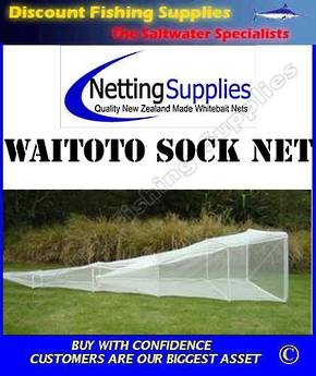 Waitoto Sock Net Whitebait Net - 1 Trap (Trap on 2nd ring) ULSTRON