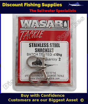Wasabi S/S Shackles 430kg X 2