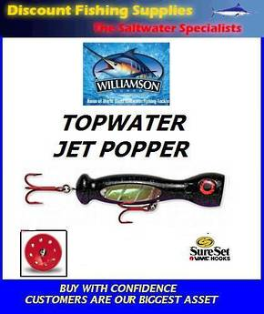 "Williamson Jet Popper - 5"" Black / Purple"