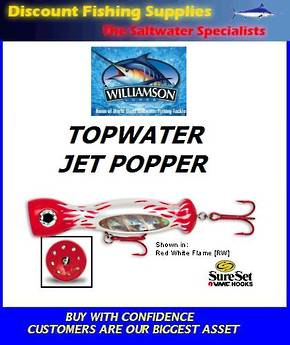 "Williamson Jet Popper - 7"" Red/White"
