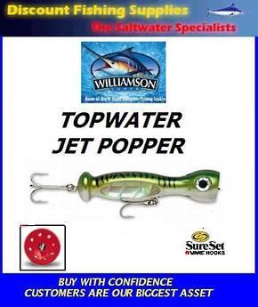 """Williamson Jet Popper - 7"""" Green Mackerel"""