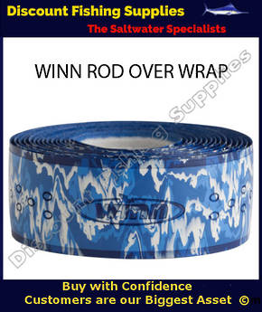 Winn Fishing 44 inch Rod Overwrap White/Blue Camo