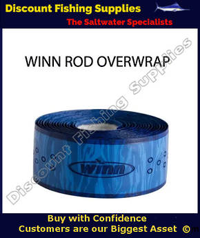Winn Fishing 44 inch Rod Overwrap Blue Camo