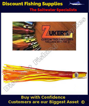 "Zuker 11"" - Vinyl Skirt Trolling Lure - ZM3.5 Bleeding Mackerel"