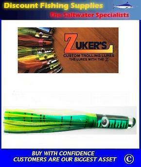 "Zuker 13"" - Vinyl Skirt Marlin Lure - ZM5 Mackerel"