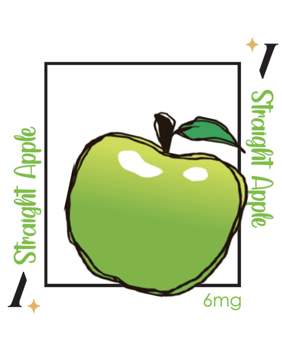 PlusV Straight Apple 10 ML