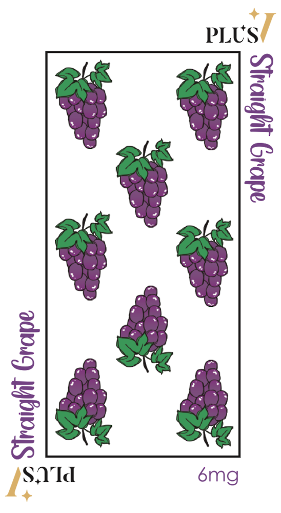 PlusV Straight Grape 60 ML