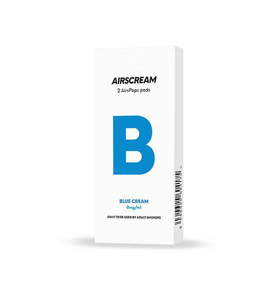 Airscream Cartridge Blue Cream 2pods pk
